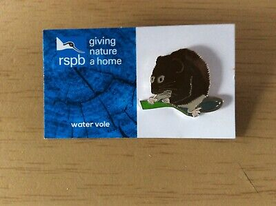 RSPB WATER VOLE charity pin badge GNAH BRAND NEW DESIGN CARD