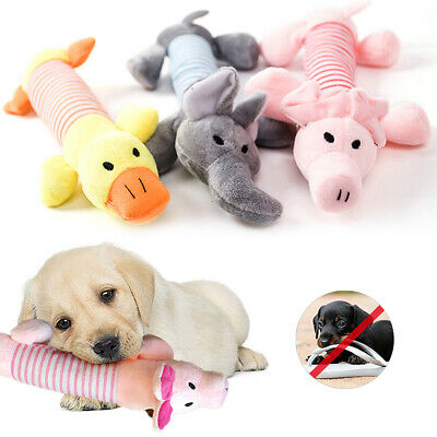 Funny Soft Pet Puppy Dog Chew Play Toys Squeaker Squeaky Cute Plush Sound Gift