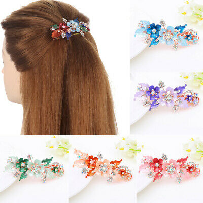 Resin Headwear Accessories  Flower Barrettes  Cute Hairpin  Crystal Hair Clip