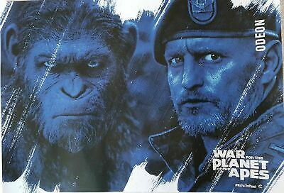 War for the Planet of the Apes 2017 (Andy Serkis/Woody Harrelson) A3 Size Poster