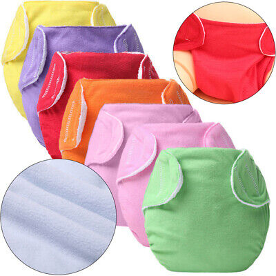 Adjustable Reusable Baby Kids Boy Girls Washable Cloth Diaper Leakproof Nappies