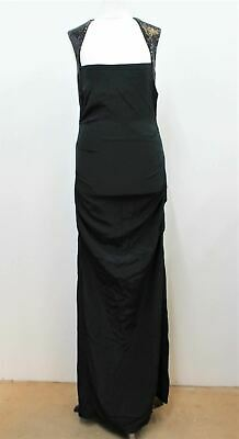 NICOLE MILLER Ladies Black Open Back Sequinned Gown Maxi Dress US6R UK8 NEW