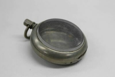 Pocket Watch Empty Casing Vintage Engraved 3102716 With Glass For Spares