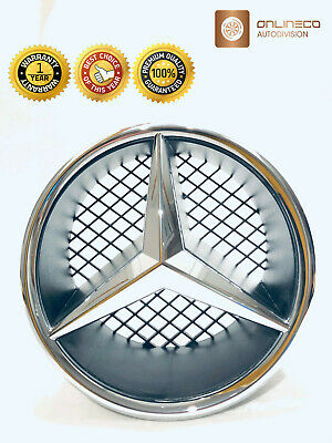 Mercedes Benz W176 A180 A260 W204 S204 FRONT CHROME GRILLE STAR EMBLEM and BASE