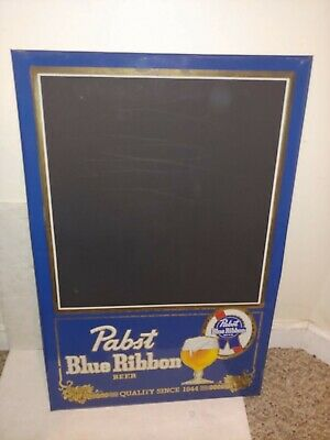 Vintage 60's/70's Pabst Blue Ribbon Beer PBR Tin Metal Chalkboard Wall Bar Sign