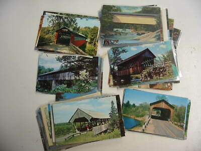 100 Covered Bridge Postcard Lot
