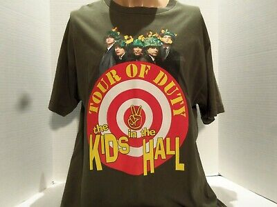 Kids In The Hall Tour Of Duty 2001 T-Shirt(Large)Green- Tour Dates- Rare