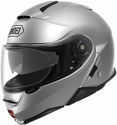 New Light Silver Shoei Neotec II Solid Color Helmets All Sizes