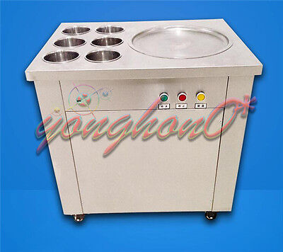 NEW Commercial Fried Ice Cream Machine,Ice Crean Roll Making Machine 220V