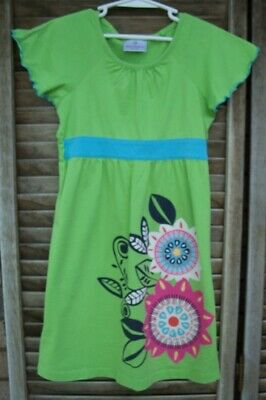 HANNA ANDERSSON lime green dress~size 120~girls size 6-7-8 years old~s/s~