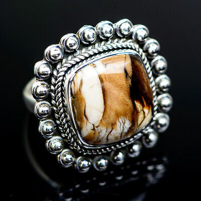 Large Peanut Wood Jasper 925 Sterling Silver Ring 7 Ana Co Jewelry R973357