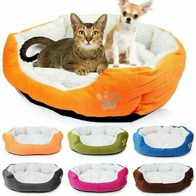 Pet Dog Cat Kennel House Soft Washable Warm Mat Bed Puppy Cushion Blanket Kitten