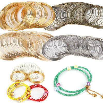 100 Loops Stainless Steel Memory Wire For Bracelet Bangle Jewelry Crafts Making