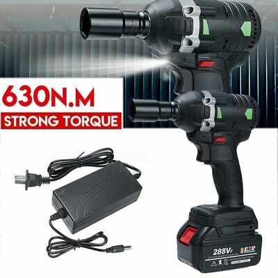 630N.M Electric Cordless Brushless Impact Wrench 3000rpm 288VF Ratchet Driver UK