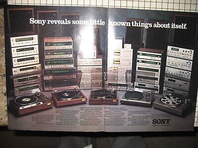 Sony Original Brochure Ad 1976 4-Channel, Tuners, Preamps, Amps, Turntables etc.