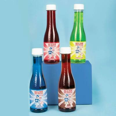 Official Slush Puppie Syrup 4 Pack Gift Set Fruity Flavours Slushie Drink