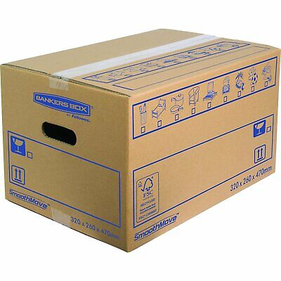 BANKERS BOX Medium Heavy Duty Transit Removal Cardboard Removal Box - 10 Pack