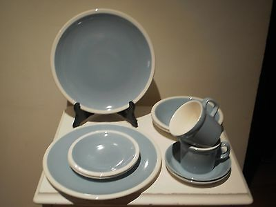"""Vintage English Wedgwood Blue&White """"Summer Sky""""10 Piece Dinner Set For 2 People"""