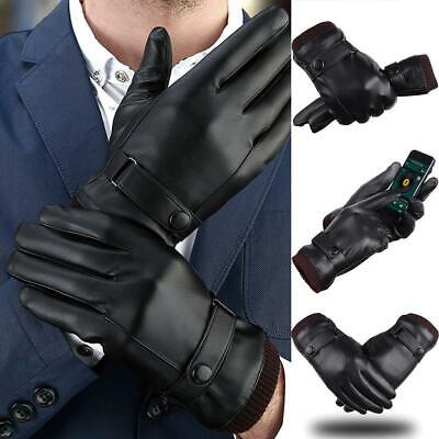 Men Women Winter Gloves Screen Touchable Windproof Waterproof Leather Thick Snow