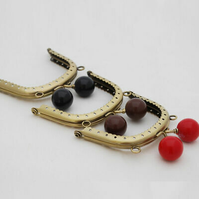 Black  Curved / Arched Sew In Bubble Clip Purse Frame - Bronze - 8cm Job lot