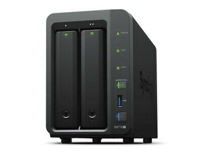 "NEW SYNOLOGY DS718+ NAS: 2 BAYS 3.5"" DISKLESS DISKSTATION INTEL CELERON J345.f."
