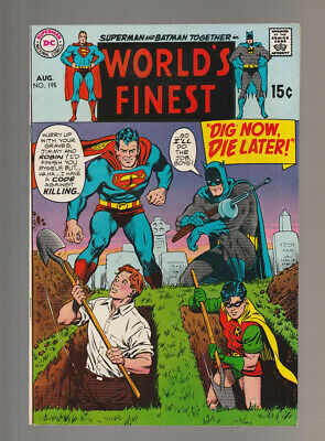 World's Finest # 195  Dig Now, Die Later !  grade 8.5 scarce book !