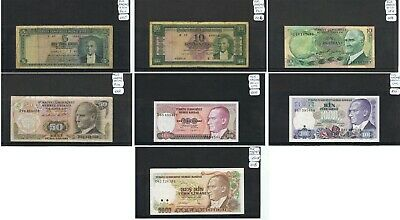 TURKEY Banknotes. Choice of Notes