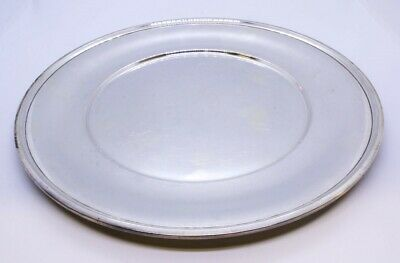 "R Wallace & Sons 925 Sterling Silver 10"" Dinner Sandwich Plate NO MONO 2409"