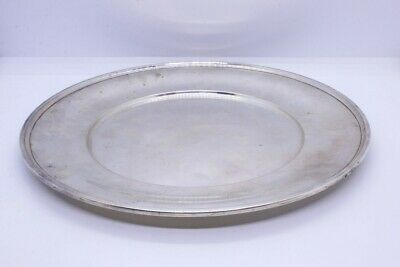 "R Wallace & Sons 925 Sterling Silver 10"" Dinner Sandwich Plate NO MONO 2410"