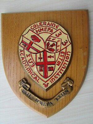 Coleraine Academical Institution Vintage Wall Plaque.