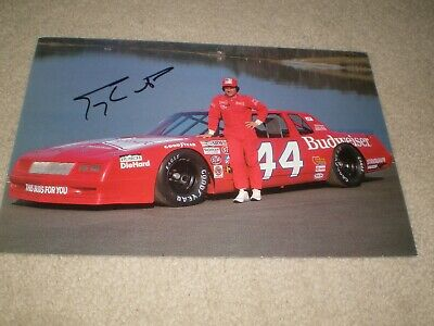 "SIGNED 1983 #44 Terry Labonte ""BUDWEISER"" NASCAR Winston Cup Racing Postcard"