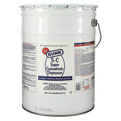 GUNK Degreaser,Pail Container,5 gal. Size, SC5