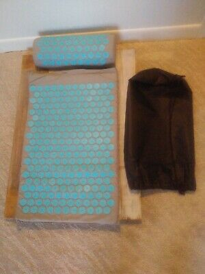 Acupressure Mat and Pillow Set for Back and Neck Includes Carrying Bag