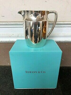 Tiffany & Co Water Pitcher 20211 Art Deco Modern 925 Sterling Silver 4-1/4 Pints