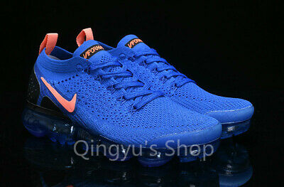 Nike Air Vapormax 2018 Flyknit 2 Men Running Shoes Sneakers Trainers -BLUE/ORG