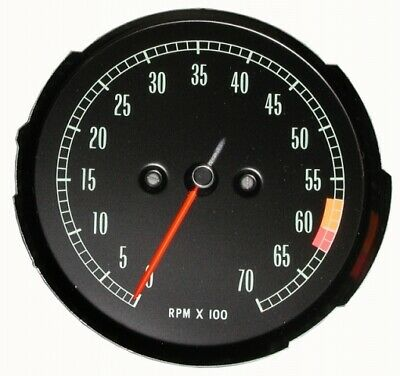 Tachometer-Assembly-With 6000 Rpm Red Line-65-67