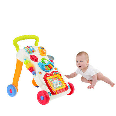 Sit-to-Stand 2in1 Baby Walker First Steps Activity ABS Musical Walker Toys Car
