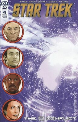 Star Trek The Q Conflict #4A Messina Characters on left side NM 2019 Stock Image