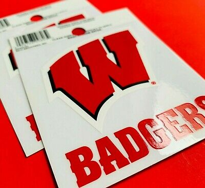 Wisconsin Badgers Removable and Reusable Car Decal Cling NEW
