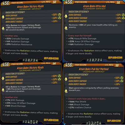 Borderlands 3 PS4 Legendary Artifacts GOD ROLLS -  70 To Choose From