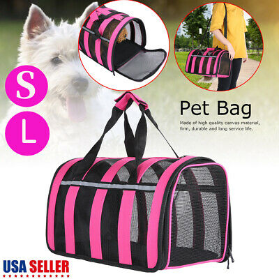 Portable Breathable Pet Carrier Soft Cat Dog Comfort Travel Tote Bag Travel S/L