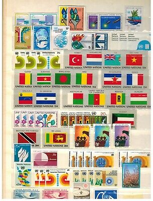 Lot of United Nations Old Stamps MNH