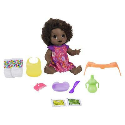 Baby Alive Happy Hungry Baby Black Curly Hair Doll African American Ethnic