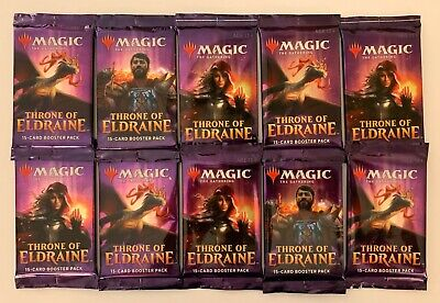 Magic The Gathering Throne of Eldraine 10 Packs - 15-Card Booster Packs (Sealed)