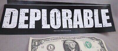 Wholesale Lot Of 20 Deplorable  Trump Campaign Sticker Distressed For 2020 Usa S