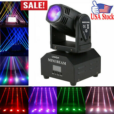 Lixada LED Stage Effect Lamp Total 50W Rotating Moving Head DMX512 11/13CH D4S9