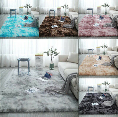 Hairy Carpet balcony living Bedroom Rectangular Door floor Faux Fur Tie-dye mat