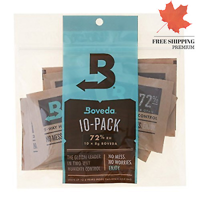 Boveda 72 Rh 2-Way Humidity Control 8 g 10 Pack ?? FAST & FREE