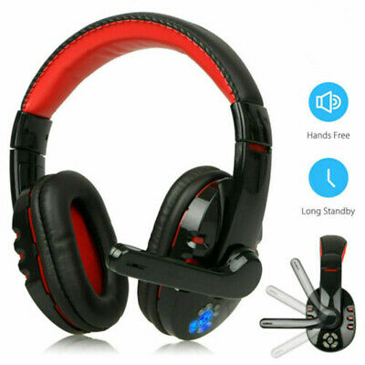 Wireless Headphone Stereo Gaming Chat Headset W/ Mic for PS4 Xbox One Smartphone