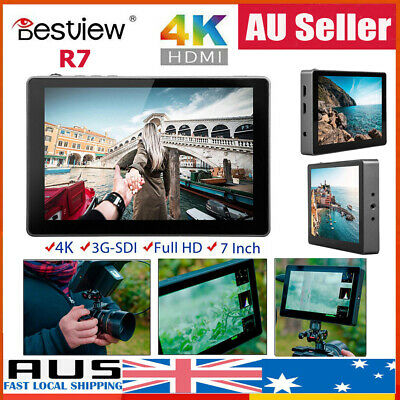 "Bestview R7 7"" 3D Lut LCD HDMI Touch Screen 4K HDMI Field Monitor For Camera AU"